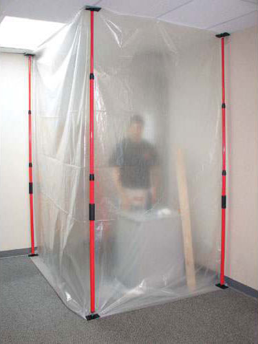 Zip Wall Dust Barrier System Containment Rooms