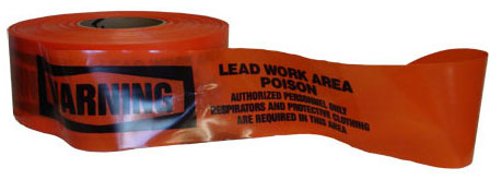 Warning Lead Work Area Barricade Tape