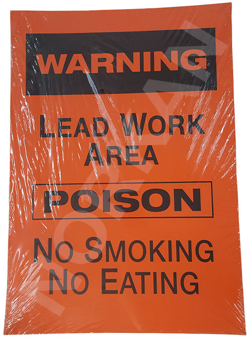 Warning Lead Work Area Sign